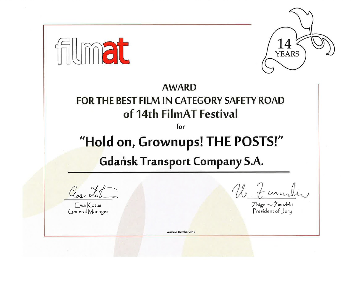 A film of the 'Hold on, grownups!' series awarded at the FilmAT Festival